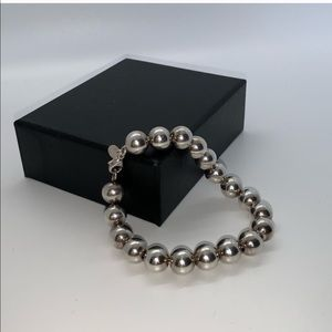 Tiffany & Co sterling silver ball bracelet 8""